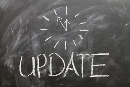 WordPress update vastgelopen