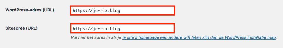 Algemene WordPress instellingen