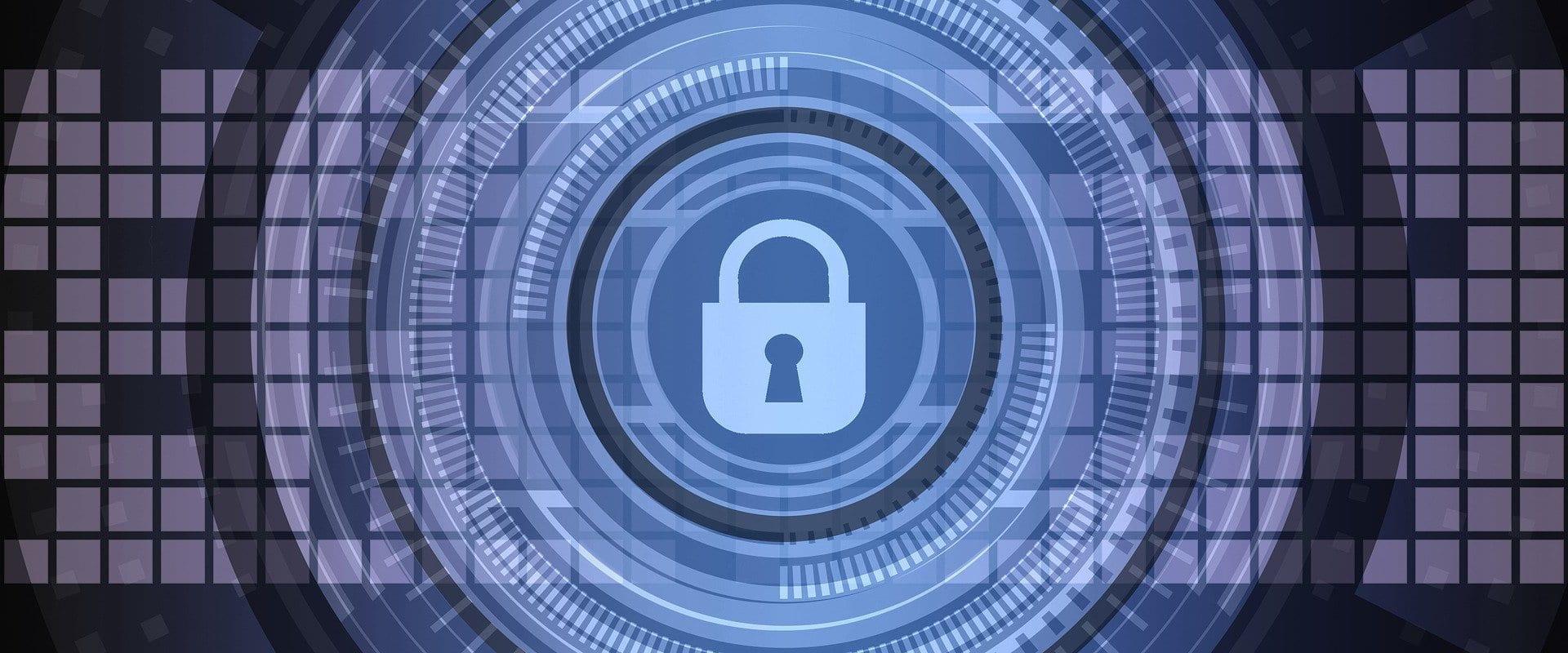 Een malslot, als referentie naar een versleutelde verbinding met HTTPS